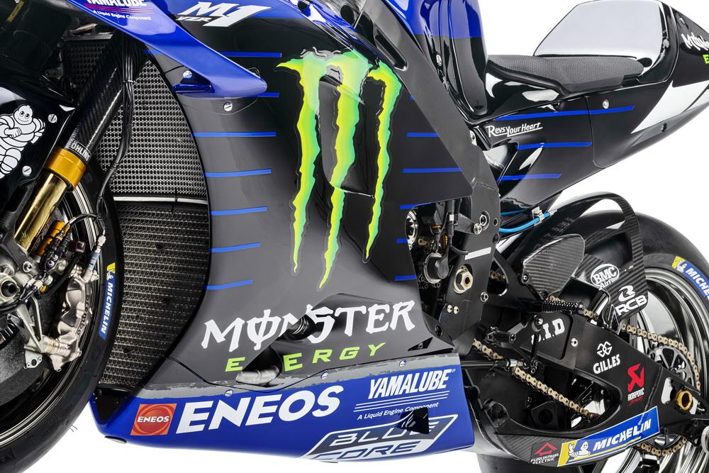 雅�R哈 YamahaYZR-M12021雅�R哈MotoGP工�S��YZR-M1 局部展示