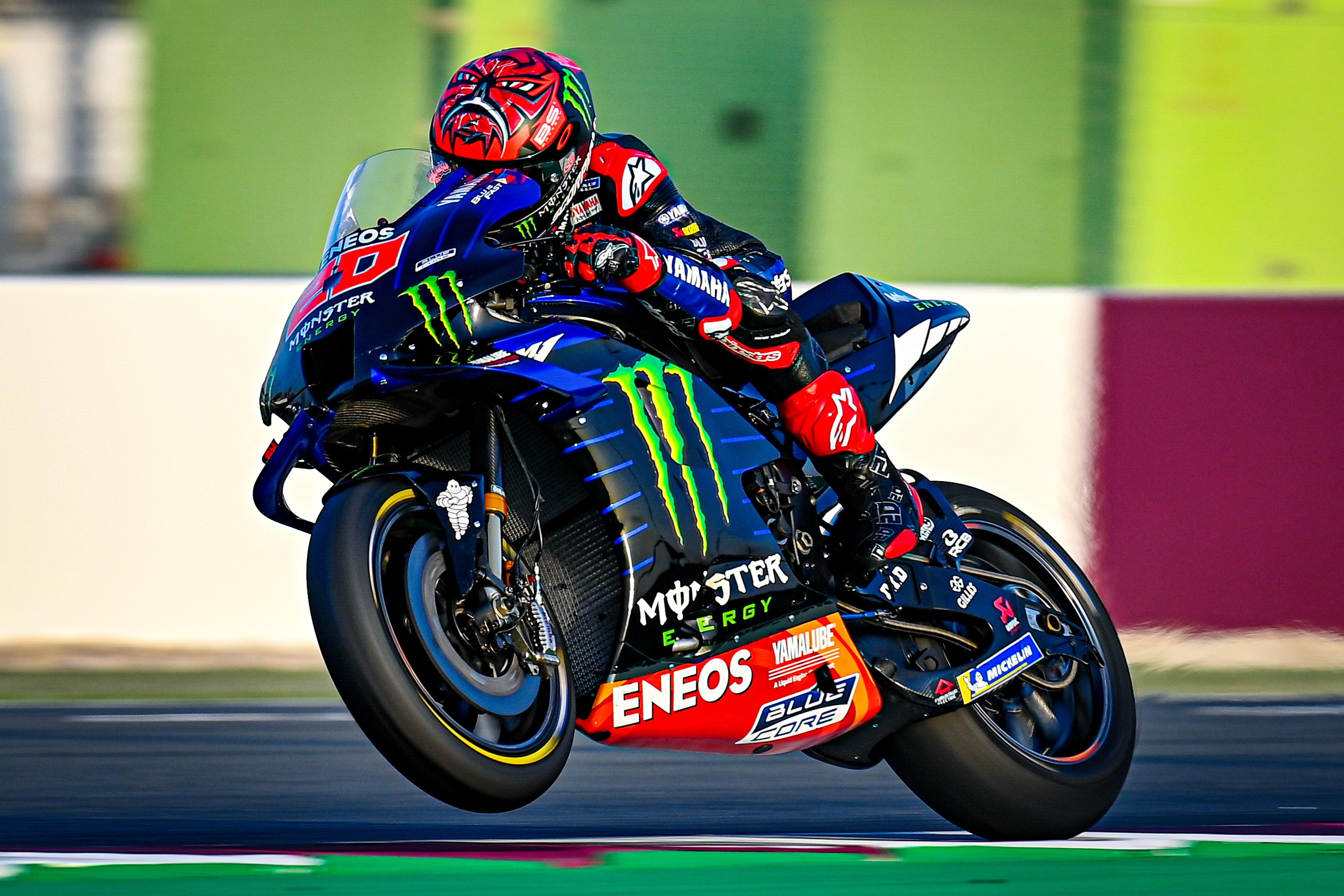 2021 MotoGP:卡塔��季前�y�、Yamaha �S�篇