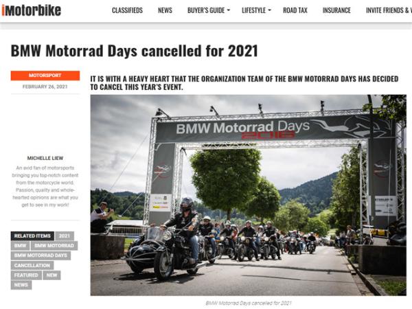 原定在柏林�e行的2021���R摩托��被取消