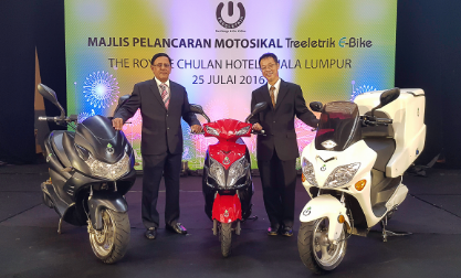 Treeletrik宣布签署协议,将向印尼供应20万辆电摩