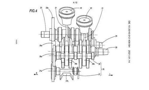 铃木中量级并列双缸专利,或装配于SV 650后继车型