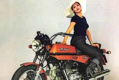 未来世界的老车,杜卡迪860-E概念电动摩托车设计