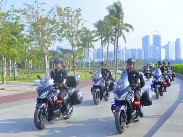 杰迪机车助力海口龙华公安组建摩托车巡逻队